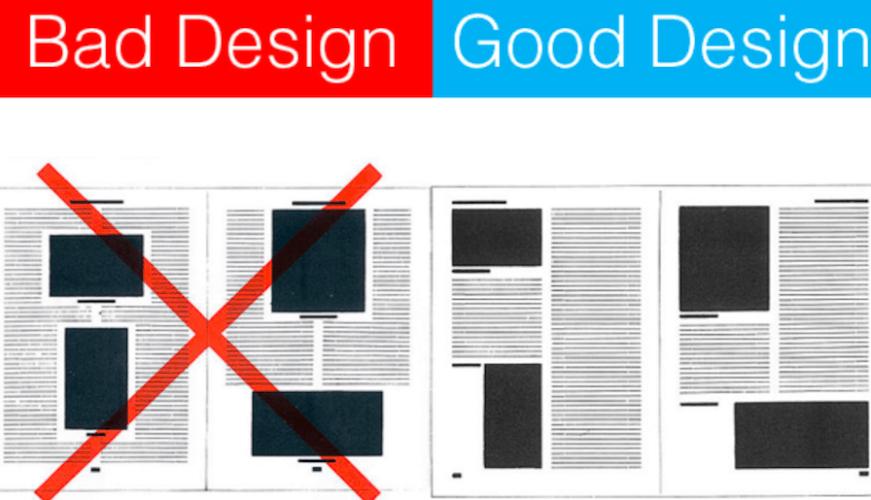 ejemplos de buen diseño y mal diseño de interfaces