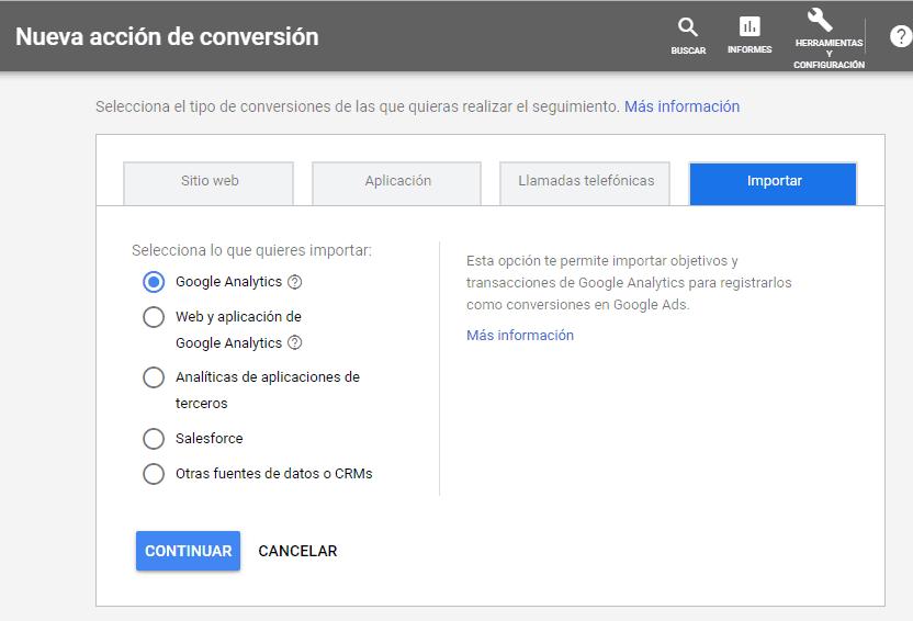 Importar conversiones a Google Ads desde Analytics para conversiones en marketing digital