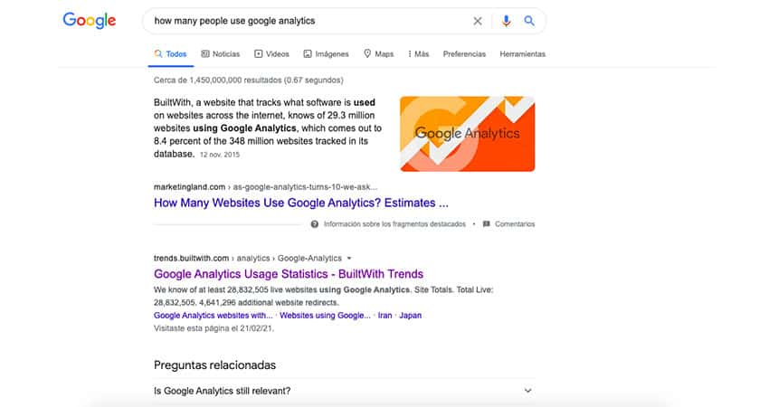 la presencia de backlinks es esencial para Google al ordenar los resultados que muestra en su buscador Lluvia Digital