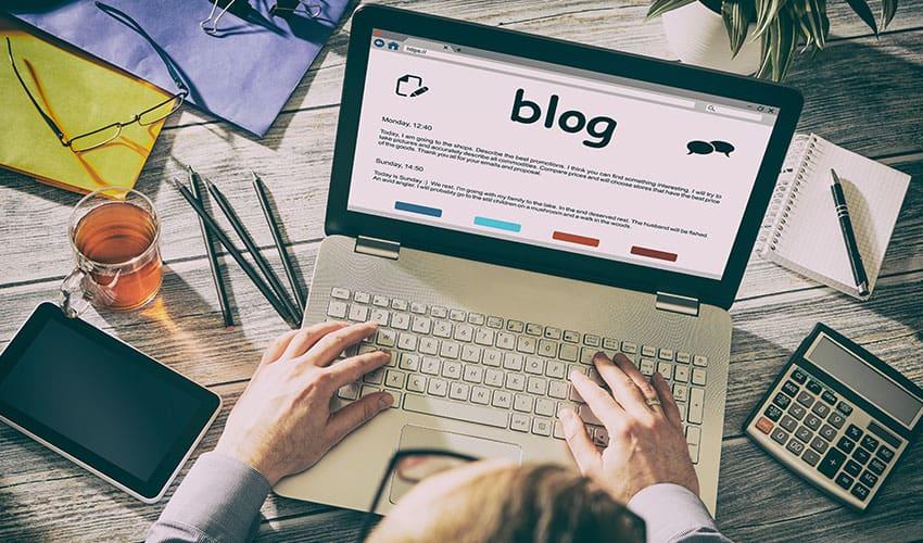 El blog es uno de los tipos de contenido más popular Lluvia Digital
