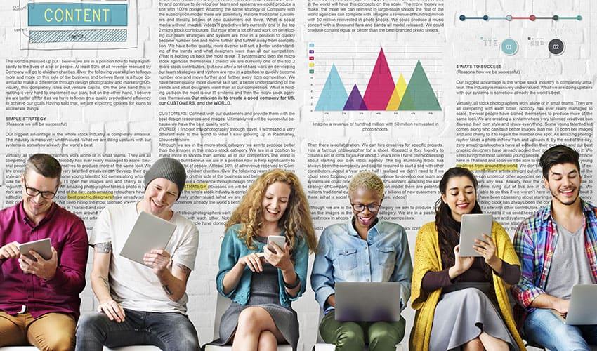 Una buena estrategia de contenidos se apoya en un equipo de trabajo completo Lluvia Digital